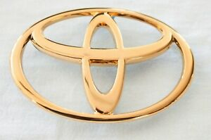 1997 2001 Toyota Camry 24k Gold Plated Rear Emblem Logo Factory 75441 aa040