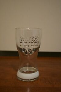 Coca Cola 2012 London Olympic Games Glass Cup White Band