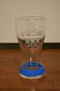 Coca Cola 2012 London Olympic Games Glass Cup Blue Band