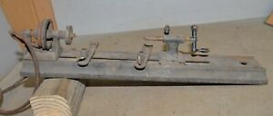 Antique Mini Jewelers Woodworking Lathe Collectible Early Bench Top Tool