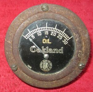 Vintage 1920 S National Gauge Co Oakland Oil Pressure Gauge Hot Rat Rod
