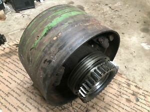 John Deere 60 Belt Pulley Assembly From Running Tractor