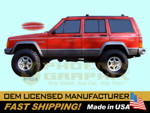 1993 1994 1995 1996 Jeep Country Cherokee Xj Truck Decal Stripe Graphic