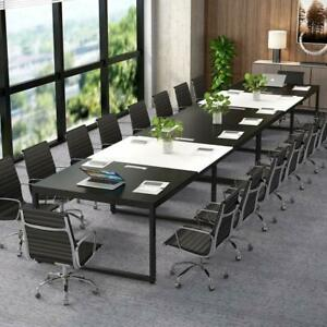 Tribesigns Modern Rectangular 8ft Conference Table 94 l 47 w 29 h Wood