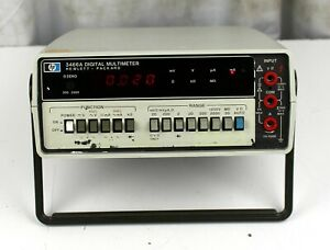 Hp Hewlett Packard 3466a Digital Multimeter Power Tested Only Sold As Is