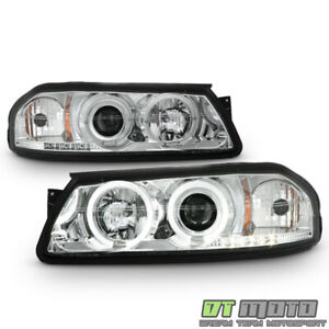 2000 2005 Chevy Impala Dual Halo Projector Led Headlights Headlamps Left Right