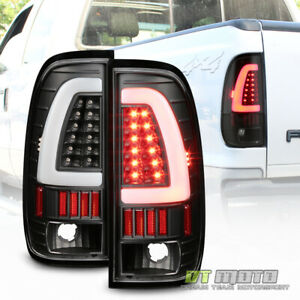 Black 1997 2003 Ford F150 Led Light Bar Tail Lights Brake Lamps Left Right 97 03