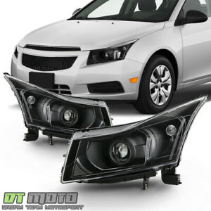 2011 2015 Chevrolet Cruze Black Projector Headlights Headlamps 11 15 Left right