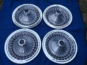 15 Dodge Chrysler Plymouth Oem Wire Hubcaps Wheelcovers 4 1971 78 Nice Used