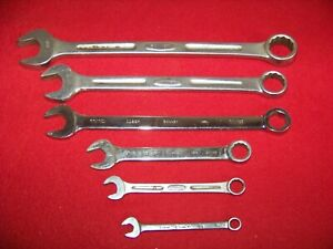 Set Of 6 Bonney Tools Combination Wrenches 5 16 Through 15 16 Usa Made