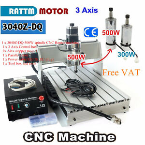 us 110v Cnc 3040z dq 3 Axis 500w Spindle Router Engraver Milling Machine Kit