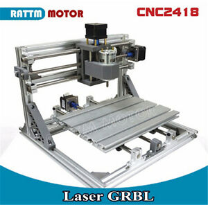Mini Cnc 2418 Grbl Control 3 Axis Diy Milling Pcb Pvc Wood Router Laser Machine