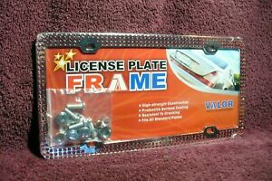 License Plate Frame Red Jewel Auto Truck Part Hot Rat Rod Street Accessory 1