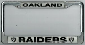 Los Angeles California Oakland Raiders Nfl License Plate Frame