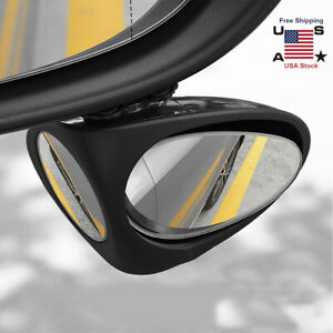 360 Rotatable 2 Side Car Blind Spot Convex Rear View Parking Mirror Safety New