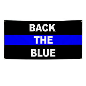 Vinyl Banner Multiple Sizes Back The Blue Police Cop Profession Outdoor