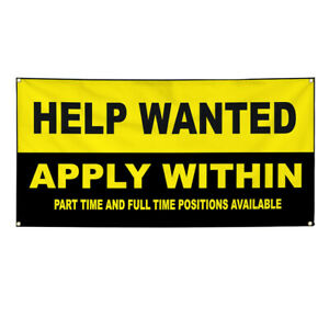 Vinyl Banner Multiple Sizes Help Wanted Apply Within Business Outdoor