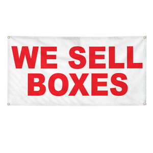 Vinyl Banner Multiple Options We Sell Boxes Red Business We Sell Boxes Outdoor