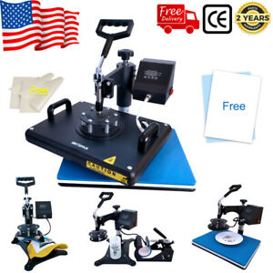 15 x12 5in1 Combo T shirt Heat Press Transfer Machine Sublimation Swing Away Us