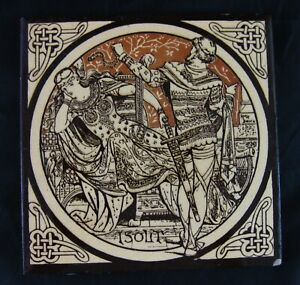 Aesthetic Movement Moyr Smith Victorian Tile Isolt Ca 1876