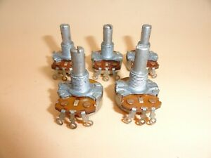 Linear Taper 200 Ohm Potentiometer 1 4 Shaft lot Of 5