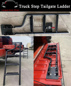 Pickup Truck Step Tailgate Ladder For Ford F150 2015 2019 Dodge Ram Tundra Rapto