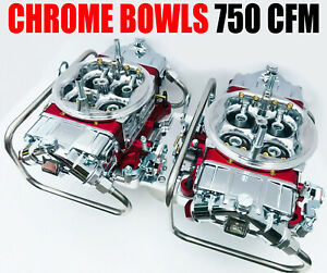 Quick Fuel Q 750 b2 750 Cfm Blower Supercharger Carbs W Line Kit Chrome Bowls