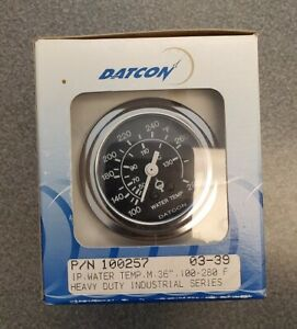 Datcon Mechanical Water Temp Gauge 100257 100 280f 36 Tube Polished Bezel