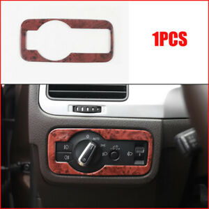 For Volkswagen Touareg 2011 2018 Wood Grain Headlight Switch Button Cover Frame