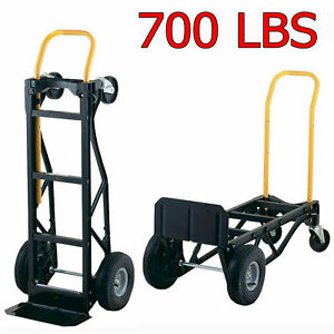 Heavy Duty Moving Dolly Convertible Hand Truck Stair Climbing Warehouse Cart