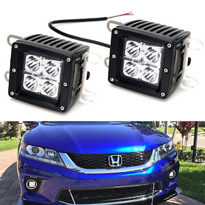 Xenon White 3 Inch 20w Cree Led Cubic Pod Lights W Stainless Steel Side Brackets