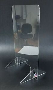 Sneeze Guard Retail Check out Cashier Counter Acrylic Freestanding 24x40