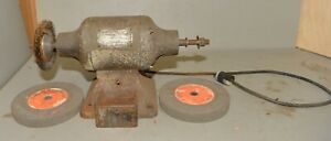 Dayton 3 4 Hp 8 Bench Grinder Cast Iron Base Water Cup Knife Makers Tool