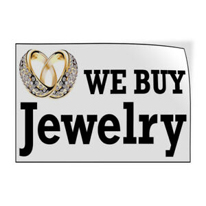 Decal Stickers We Buy Jewelry Business Vinyl Store Sign Label