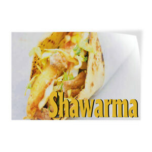 Decal Stickers Shawarma Outdoor Advertising Printing Vinyl Store Sign Label