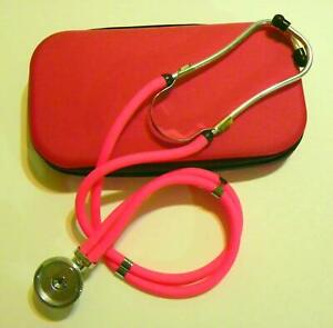 Rappaport Stethoscope With Carrying Case Scissors And Penlight Pink New
