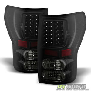 For Black Smoke 2007 2013 Toyota Tundra Led Tail Lights Brake Lamps Left right