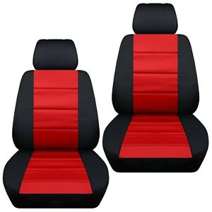 Front Set Car Seat Covers Fits Ford Fiesta 2011 2019 Black And Red