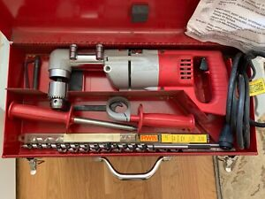 milwaukee Heavey dutey Right Angle Drill 1 2 Drill 1107 1 Red Metal Case