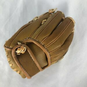 Mini Baseball Glove Business Card Holder genuine Brown Leather