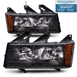 Headlights Pair Set Halogen Fits 2004 2012 Chevrolet Colorado Gmc Canyon
