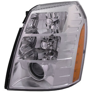 Left Driver Front Headlight Fits 09 14 Cadillac Escalade Hid 09 2nd Design