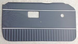 New Left Door Panel For Mgb Roadsters 1970 76 Black W chrome Strips Quality Made