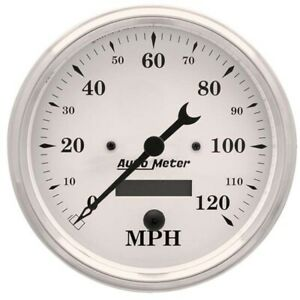 Autometer 1689 Old tyme White Air core Speedometer 5 Inch