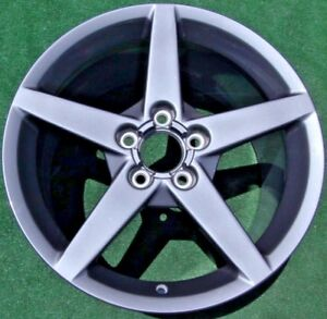 Factory Chevrolet Corvette Wheels Set 4 New Genuine Gm Oem Qx1 Competition Gray