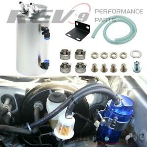 Rev9 Ac 091 Silver Universal Aluminum Oil Catch Can 750ml For Toyota Matrix