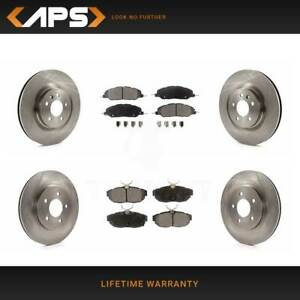 Front Rear Ceramic Brake Pads Rotors For 2011 2014 Ford Mustang