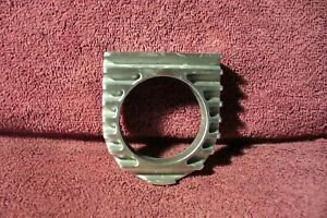 Vtg Style Finned Single Gauge Dash Mount Panel Auto Oil Amp Water Rod Accessory