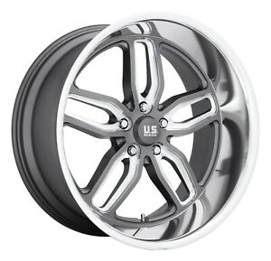 Cpp Us Mags U129 C Ten Wheels 22x8 5 F 22x10 5 R 5x5 Anthracite Gray