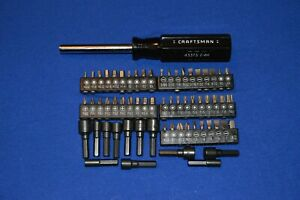 Craftsman New 63 Pc Magnetic Handle Nut Driver Screw Bits Ts 117